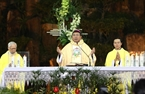 Thánh lễ đêm Noel tại nhà thờ chánh tòa giáo xứ Thánh Tâm (Đắk Lắk). Ảnh: Dương Giang – TTXVN
