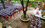 The ceremony of starting the 2014-2015 academic year at Dai Kim Primary School, Hoang Mai District, Hanoi. Photo: Trong Chinh/VNP