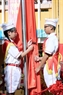 The flag raising ceremony at Thanh Cong A Primary School. Photo: Hoang Ha/VNP