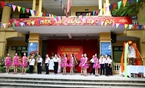 Performances by pupils of Dai Kim Primary School to welcome the 2014-2015 academic year. Photo: Trong Chinh/VNP