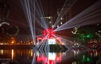 A stunning floating stage for an art performance on New Year's Eve is set on Thien Quang Lake. Photo: Tat Son/VNP