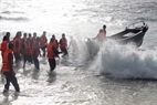 Due to the narrow corral bench and rough waves, going to and from the island is very difficult and dangerous.