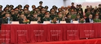 Leaders of the Ministry of Public Security, Hanoi's Department of Public Security, the Capital Command and Hanoi's Department of Health are present at the ceremony. Photo: Tran Thanh Giang/VNP