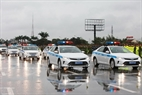 Traffic police participating in protection of IPU-132. Photo: Tran Thanh Giang/VNP