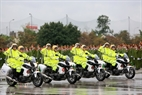 Motorcycles of the traffic police force. Photo: Tran Thanh Giang/VNP