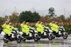 Vehículos de la policía de tráfico. Foto: Tran Thanh Giang