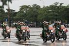 Motocicletas de la Comandancia de Hanoi. Foto: Tran Thanh Giang