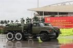Vehículos de la Comandancia de Armas Químicas del Ministerio de Defensa, cuyo trabajo es desintoxicar y descontaminar sustancias radiactivas, y desinfectar las armas y equipo técnico-militar. También se utilizan para limpiar el medio ambiente.