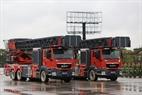 Coches de bomberos. Foto: Tran Thanh Giang
