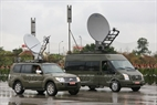 Communication vehicles of the Capital Command are able to receive and transmit signals directly through Vinasat 1 satellite. Photo: Tran Thanh Giang/VNP
