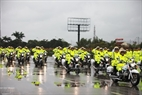 The motorcycles of the traffic police force have an engine capacity of 750 cubic centimeters and are responsible for protection and procession of vehicles which transport heads of states and international guests. Photo: Khanh Long/VNP