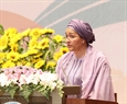 UN Assistant Secretary-General Amina Mohammed speaks at the ceremony. Photo: VNA