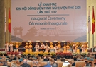 The artistic programme to celebrate the Inaugural Ceremony of IPU-132. Photo: VNA
