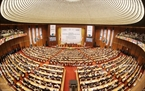 Toàn cảnh Lễ khai mạc IPU-132 tại Nhà Quốc hội ở Hà Nội. Ảnh: TTXVN