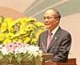 Chủ tịch Quốc hội Việt Nam Nguyễn Sinh Hùng đọc diễn văn khai mạc. Ảnh: TTXVN