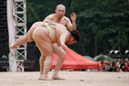 Sumo is also performed at the festival.