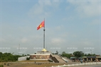 The flag pole on the northern side of the Ben Hai River, one of the targets which was continuously destroyed by the army of the Saigon authority and the US.
