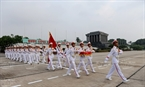 The flag raising ceremony is a national rite which is performed at 6am everyday in front of President Ho Chi Minh's Mausoleum.