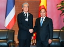 Prime Minister Nguyen Xuan Phuc receives Deputy Prime Minister of Thailand Somkid Jatusripitak on the occasion of attending the summits. Photo: VNA