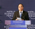 The Vietnamese Prime Minister speaks to open WEF-Mekong. Photo: VNA