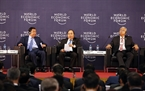 Prime Minister Nguyen Xuan Phuc attends the dialogue of WEF-Mekong. Photo: VNA