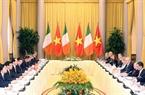 Chủ tịch nước Trần Đại Quang hội đàm với Tổng thống Michael Daniel Higgins. Ảnh: Nhan Sáng/TTXVN