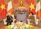 Chủ tịch Quốc hội Nguyễn Thị Kim Ngân tiếp Tổng thống Michael Daniel Higgins. Ảnh: Trọng Đức/TTXVN