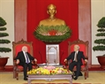 Tổng Bí thư Nguyễn Phú Trọng tiếp Tổng thống Michael Daniel Higgins. Ảnh: Trí Dũng/TTXVN