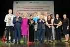 Chủ tịch nước Trần Đại Quang và Tổng thống Michael Daniel Higgins dự chương trình biểu diễn nghệ thuật Ireland tại Nhà hát Lớn, Hà Nội. Ảnh: Nhan Sáng/TTXVN