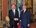 Президент СРВ Чан Дай Куанг провел встречу с Председателем Сената Италии Пьетро Грассо. Фото: Нян Шанг - ВИА
