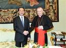 Президент СРВ Чан Дай Куанг встретился с премьер-министром Ватикана Пьетро Паролиным. Фото: Нян Шанг - ВИА