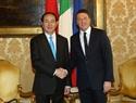 Президент Вьетнама Чан Дай Куанг провел встречу с премьер-министром Италии Маттео Ренци. Фото: Нян Шанг - ВИА