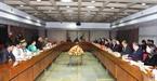 Chủ tịch Quốc hội hai nước tiến hành hội đàm. Ảnh: Trọng Đức/TTXVN