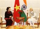 La présidente de l'A.N Nguyên Thi Kim Ngân a eu une rencontre avec le Premier ministre indien Narendra Modi. Photo : Trong Duc/AVI