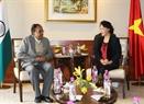 La présidente de l'A.N Nguyên Thi Kim Ngân a reçu le secrétaire général du Parti communiste d'Inde, Suravanram Sudhakar Reddy. Photo : Trong Duc/AVI