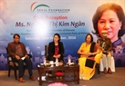 La présidente de l'A.N Nguyên Thi Kim Ngân a eu une rencontre avec les représentants du Fonds indien. Photo : Trong Duc/AVI
