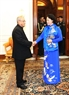 La présidente de l'A.N Nguyên Thi Kim Ngân a eu une rencontre avec le président indien Pranab Mukherjee. Photo : Trong Duc/AVI