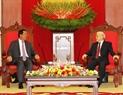 Le Secrétaire général du Parti communiste du Vietnam, Nguyên Phu Trong recevant  le Premier ministre Samdech Hun Sen.  Photo. Tri Dung - AVI