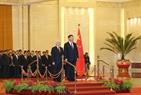 El 12 de enero, en el Gran Salón del Pueblo, Beijing, se llevó a cabo solemnemente la ceremonia de bienvenida oficial al secretario general del PCV Nguyen Phu Trong con protocolo de máximo nivel. Foto: Tri Dung – VNA