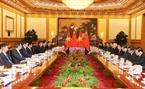 El secretario general del PCV Nguyen Phu Trong sostiene conversaciones con el secretario general del PCCh y presidente Xi Jinping. Foto: Tri Dung – VNA