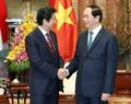 Президент Вьетнама Чан Дай Куанг принял премьер-министра Японии Синдзо Абэ. Фото: Чи Зунг - ВИА