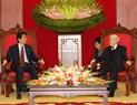Генеральный секретарь ЦК КПВ Нгуен Фу Чонг принял премьер-министра Японии Синдзо Абэ. Фото: Чи Зунг - ВИА