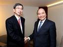 El Premier se reúne con el presidente del Banco Asiático de Desarrollo, Takehiko Nakao. Foto: Thong Nhat – VNA