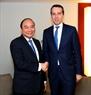 El Premier vietnamita sostiene un encuentro con su homólogo de Austria, Christian Kern. Foto: Thong Nhat – VNA