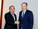 El Premier se reúne con el presidente  del Banco Mundial, Jim Young Kim. Foto: Thong Nhat – VNA