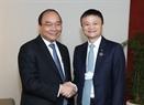 El Premier recibe al presidente del grupo chino Alibaba, Jack Ma. Foto: Thong Nhat – VNA