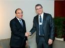 El Premier se reúne con el director general de la Organización Mundial del Comercio (OMC), Roberto Azevedo. Foto: Thong Nhat – VNA