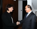 El Premier se reúne con la presidenta suiza, Doris Leuthard. Foto: Thong Nhat – VNA