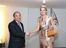 El Premier se reúne con la Reina Maxima de Holanda. Foto: Thong Nhat - VNA