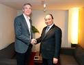 El Premier recibe al presidente del grupo Qualcomm, Paul E. Jacobs. Foto: Thong Nhat – VNA